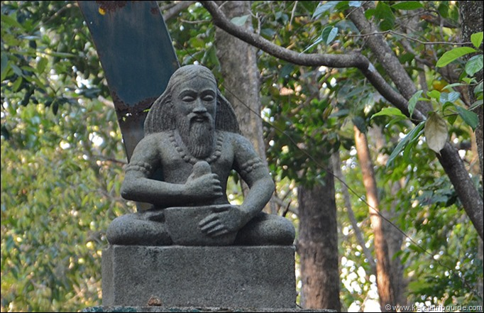 Agasthya Sage idol at Bonacaud forest station