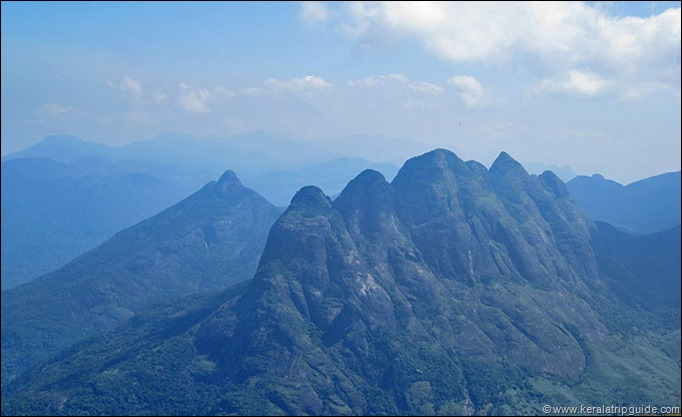 View of Ainthuthalai Pothigai from Agasthyakoodam Peak