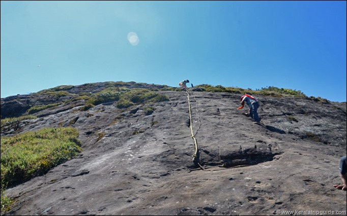 Final climb to Agasthyakoodam peak
