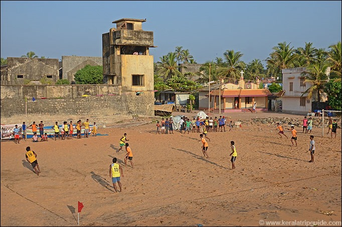 Valiathura beach football