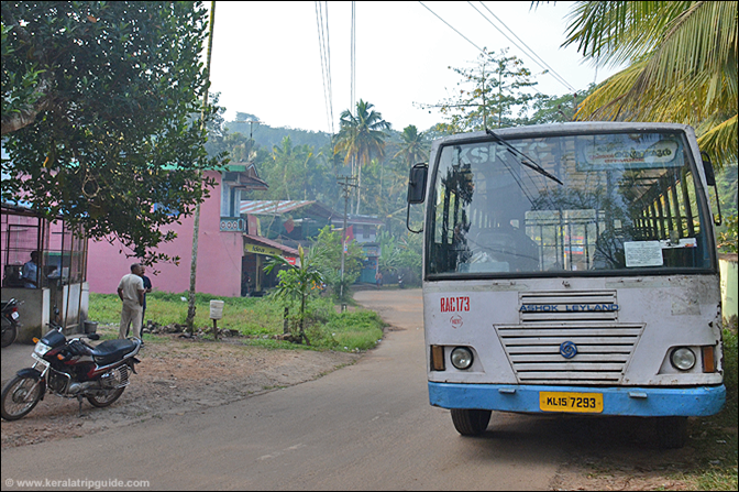 Braemore bus at Mankayam