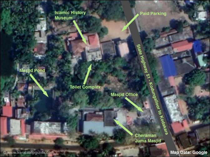 Cheraman Mosque Location Map